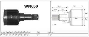 WN650_Ford_MOTOMAX_przeguby i półosie-parametry