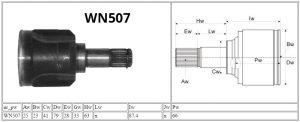 WN507_Mitsubishi_MOTOMAX_przeguby i półosie_parametry