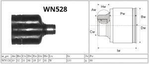 WN528_NISSAN_MOTOMAX_przeguby i półosie_PARAMETRY